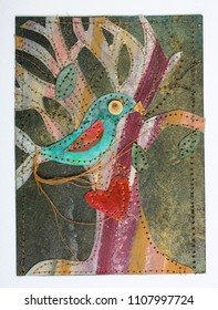 Love Bird Original Art Collage