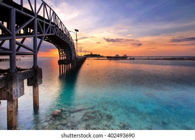 love bridge location island Tidung