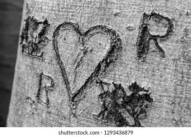 Love carved in wood