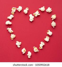 Love Cinema concept of popcorn
