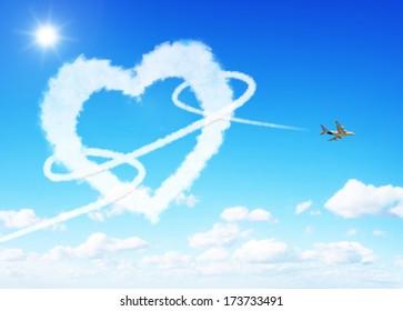 Love clouds concept
