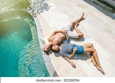 Couple Sunbathing Beach Images Stock Photos Amp Vectors