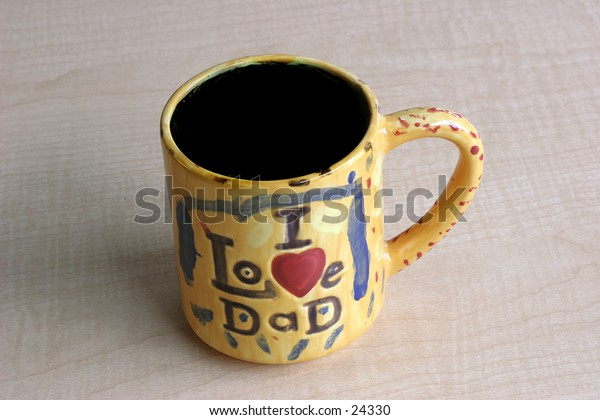 I love dad yellow coffee mug
