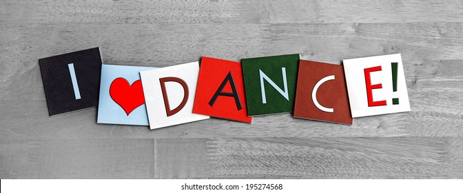 I Love Dance, from ballet dancing to the samba, from tap dancing to salsa, foxtrot and ballroom dancing, sign series for dancing, dance fans and the arts.
