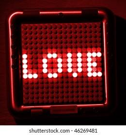 love digital text