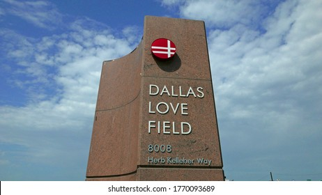 LOVE FIELD AIRPORT, DALLAS TEXAS USA, JULY 4TH: Dallas Love Field is a city-owned public airport 6 miles northwest of downtown Dallas, 7-4-2020