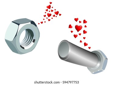 Love at first sight between a nut and a screw
