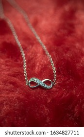 love gift with infinity. jewelry and anniversary concept