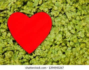 Love for green, healthy and slimy mushy peas! Food concept background with text / design / copy space.