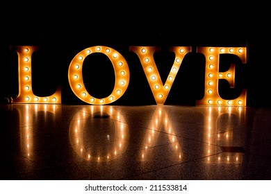 LOVE Happy Valentines day card, Font Type,Caption word love,Love inscription from the Light..