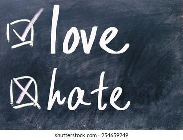 love and hate choice on blackboard