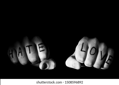 Love and hate, sometimes very close