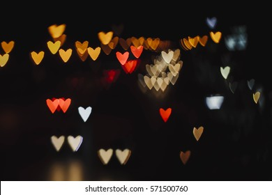 love , heart , love , love bokeh , blackground -vintage style picture and vintage color