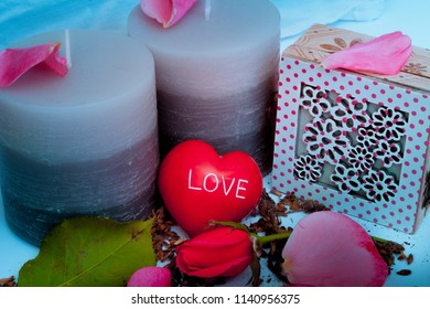 love heart candles