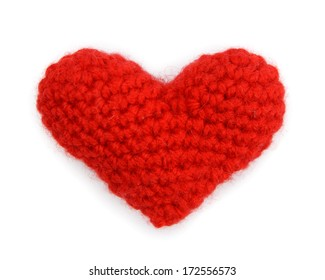 Love heart isolated on white background, valentines day card concept
