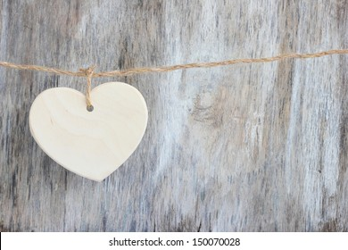 Love heart romantic vintage wooden background