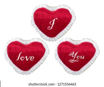 Love Hearts on White Background