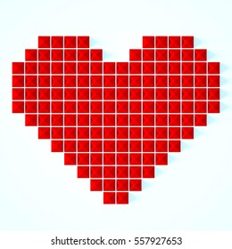 Love hearts Valentines day background , geometric style
