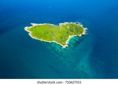 Love Island, Heart Island, Koh Keaw, Buddha Island Phuket, Thailand.