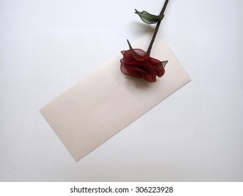 love letter concept on White Backgrounds.
