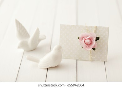 love letter, gift tag, greeting card or wedding invitation