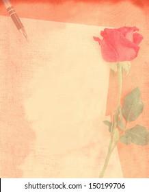 love letter, vintage style