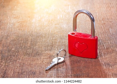 Love lock and key