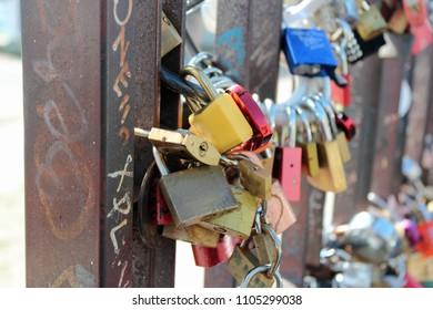 love locks in Berlin