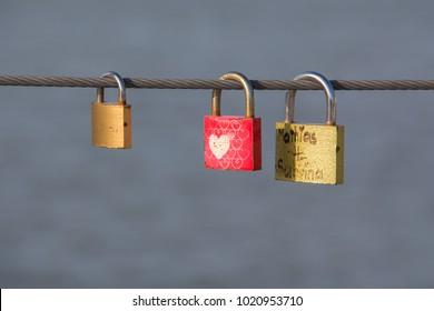 Love locks loyalty hapiness heart