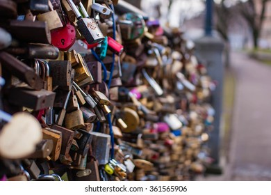 Love Locks on Bridge in Europe ( symbolize Love Forever )