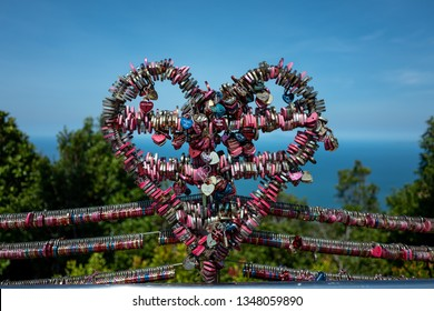 Love locks on the top of the Langkawi Sky Cab area