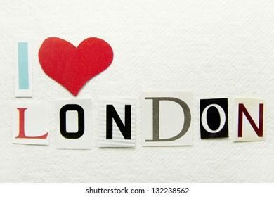 i love london sign