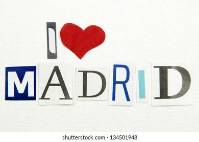 i love madrid sign