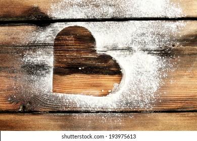 love mark and flour on retro desk