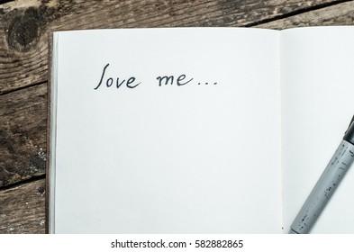 love me, inscription