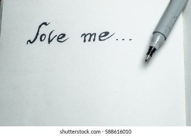love me, inscription