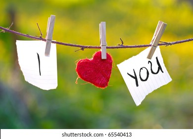 Love message in the clothesline