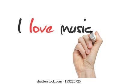 I love music written by hand on whiteboard