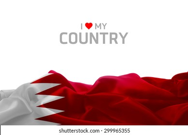 I Love My Country Bahrain flag