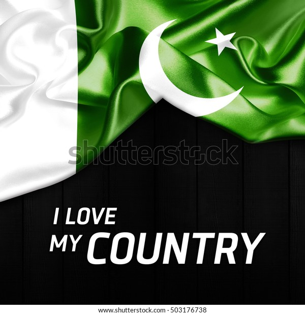 Love My Country Pakistan Abstract Flag Stock Photo (Edit Now) 503176738