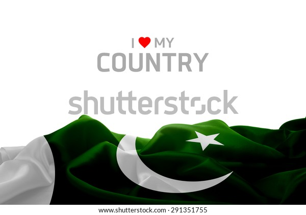 Love My Country Pakistan Flag Stock Photo (Edit Now) 291351755
