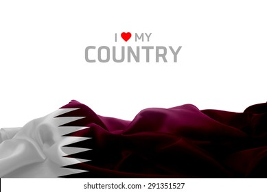 I Love My Country Qatar flag