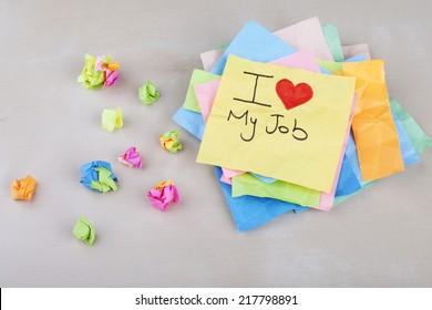 I Love My Job Note