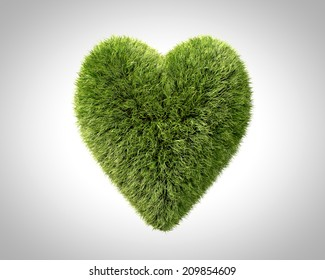 Love of nature and green energy 3D design