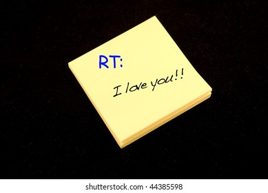 A love note on a post-it and re-tweeted