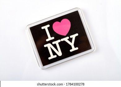 I love NY souvenir. Isolated on white background.