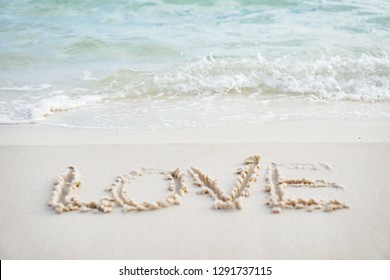 Love on beach,  Valentine's day.