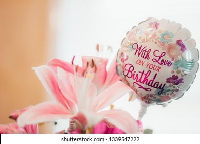 With love on your birthday flower birthday card Happy Birthday