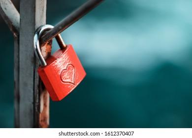 Love padlocks on a bridge in mostar, bosnia and herzegovina. Representing ever lasting love and relationship