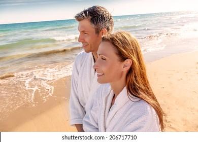 love paradise smiling while walking down sundown
